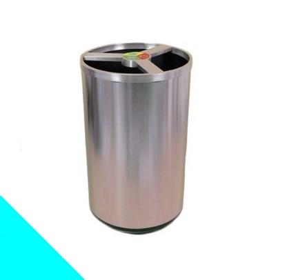 PAPELERA ECO 3 INOX CILÍNDRICA – REF. 0211